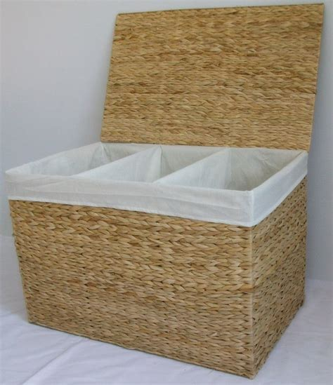 Divided Laundry Hers Laundry Basket Sorter Storage Her With 3 Three Compartments Laundry Basket