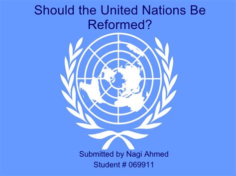 United Nations Nation 13 by Un Reforms