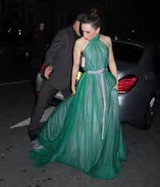 blue murder gown of green ridley attends murder on the orient express premiere