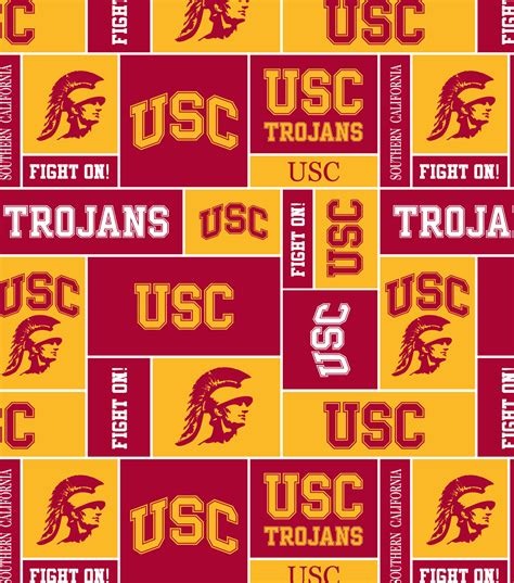 joann fabric printable application university of southern california ncaa block fleece fabric