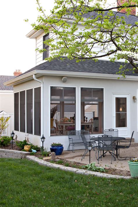Patio Addition by Screened In Porch Addition Kirkwood Roeser Home Remodeling