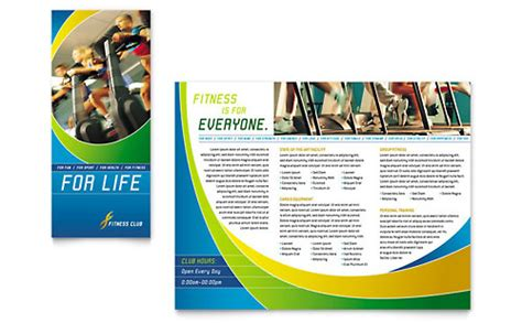 personal training brochure templates sports fitness