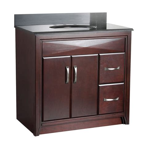 36 bathroom vanity with drawers foremost cavett 36 in single bathroom vanity right side