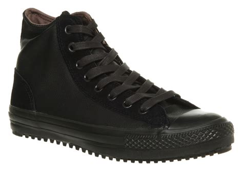 converse boot mid blkblk in black for lyst