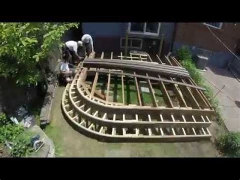trunorthdeck curved deck  fence time lapse build