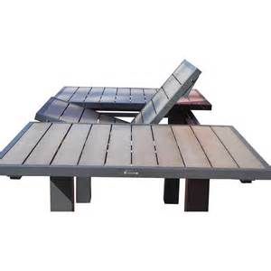 table jardin aluminium composite