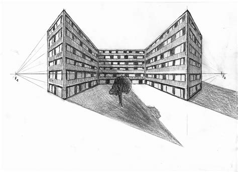 Perspektive Zeichnen Lernen by Ein Punkt Perspektive Und Zwei Punkt Perspektive Zeichnen
