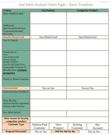 sales analysis 9 exles in word pdf