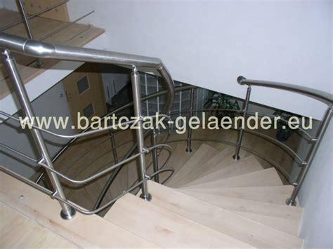 Edelstahlgeländer Bausatz by Edelstahlgel 228 Nder Innen Und Au 223 En Mit Glas Als Bausatz F 252 R