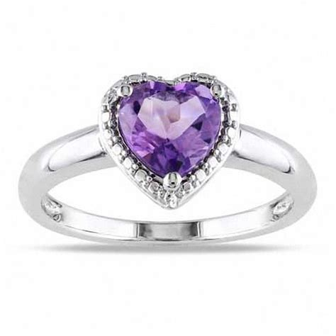 7 0mm shaped amethyst ring in sterling silver