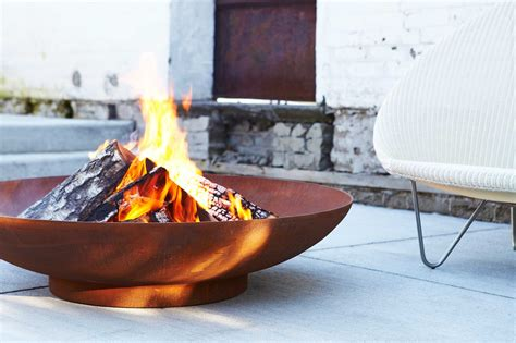 new paloform fire pit modern firepits concrete tiles and