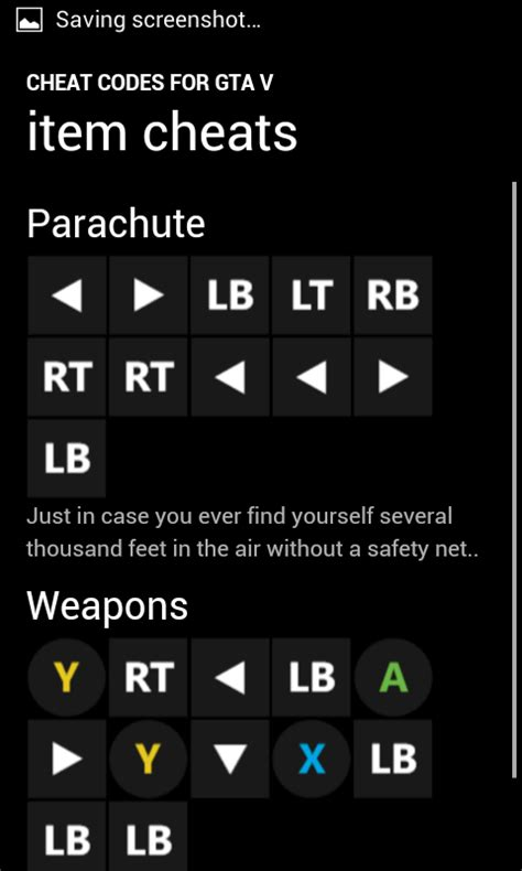 Cheat Codes for GTA V: Amazon.co.uk: Appstore for Android
