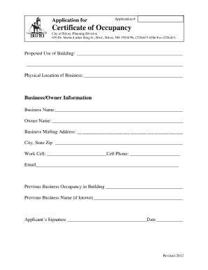 occupancy certificate pdf fill online printable