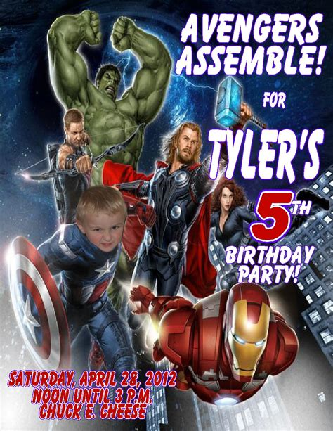 Marvel Birthday Card Template by Birthday Invitations Flyers Invitation