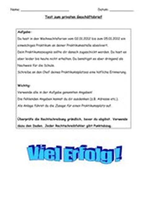 Offizieller Brief Unterrichtsmaterial 4teachers Lehrproben Unterrichtsentw 252 Rfe Und