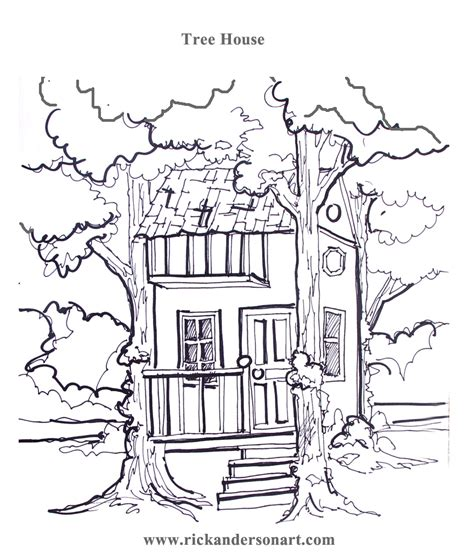 coloring page magic tree house free coloring pages of tree houses