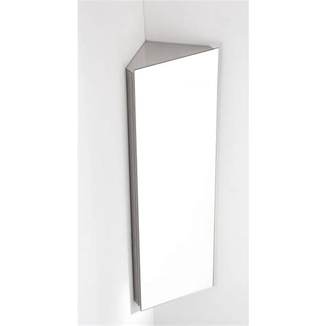reims single door corner mirrored bathroom cabinet