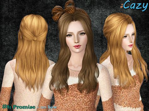 sims 3 cheats for hairstyles cazy s promise hairstyle female no bow