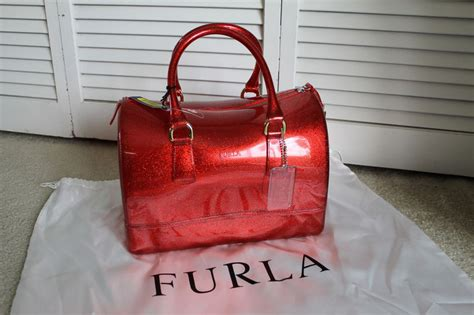 Furla Jelly Bag Preloved nwt furla rosso glitter satchel jelly bauletto bag w lock hang tag ebay
