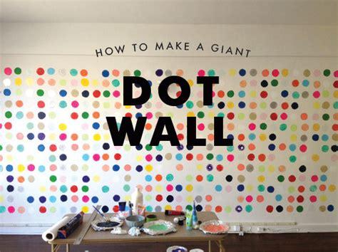 how to paint polka dots on bedroom walls dot wall diy