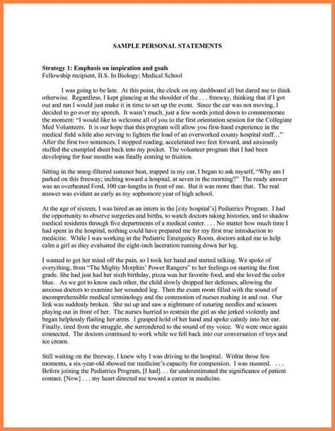 College Personal Statement Essay Exles by 8 Exles Of College Personal Statements Personal Statement Exles