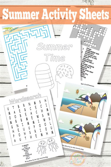 printable summer activity sheets 33 fun summer activities for the kids
