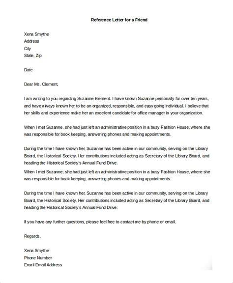 letter of recommendation for immigration template friend support of