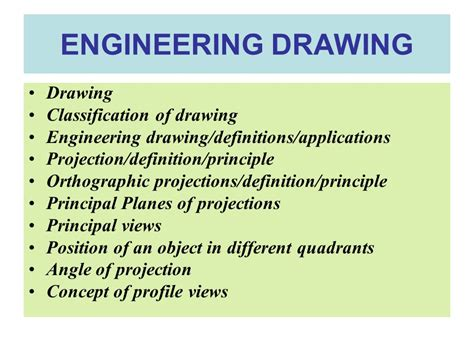Drawing Definition by Chapter 2 Orthographic Projections Ppt