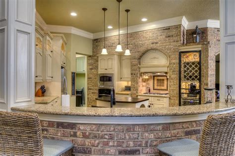 Kitchen Breakfast Bar Designs by 47 Brick Kitchen Design Ideas Tile Backsplash Amp Accent