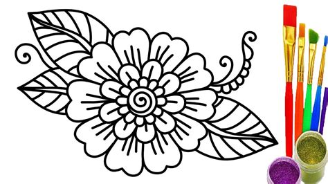 flower coloring remarkable flower colouring in pages how to draw coloring