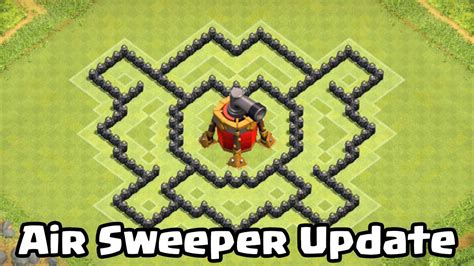 coc layout th7 with air sweeper clash of clans th7 defense strategy best coc town hall 7