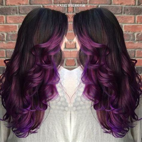 hair styles that are and layerd with purple die in it 50 purple ombre hair ideas worth checking out hair