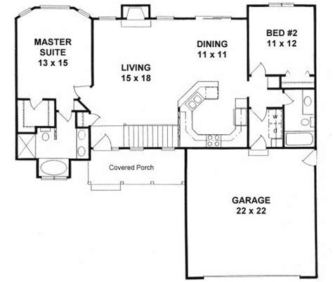two bedroom two bathroom house plans plan 1179 ranch floor plan house plans