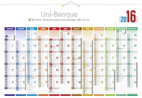 Calendrier 53 Semaines Calendrier Grand Format 2016 Maxi Banque Calendriers