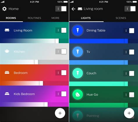3rd hue lights a look at the brand philips hue app