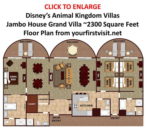 animal kingdom villas floor plan large families at disney world yourfirstvisit net