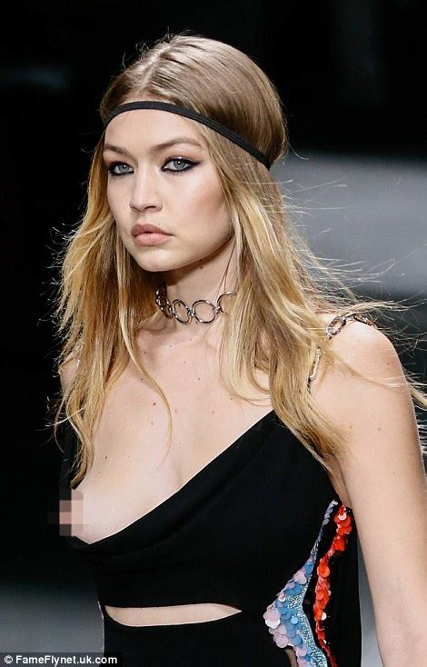 The Week In Nip Slips gigi hadid suffers a nip slip on the runway for versace at