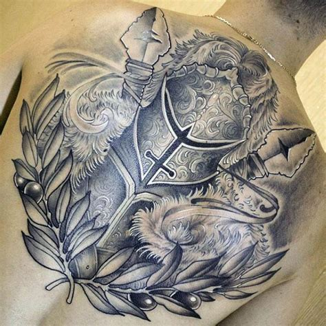 tattoo back warrior 100 warrior tattoos for men battle ready design ideas