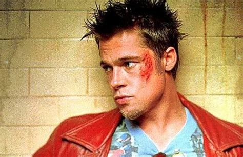 tyler durden hairstyle brad pitt white background hairstylegalleries com