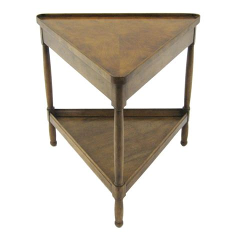 Triangle Accent Table Triangular Side End Table By Baker