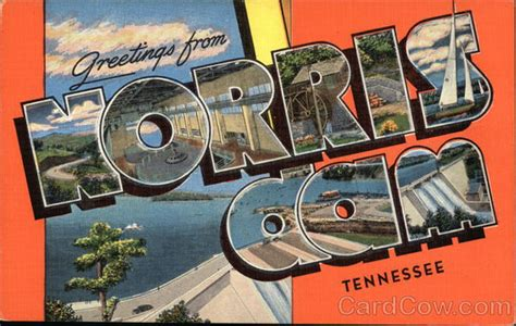 boat storage near norris lake greetings from norris dam tennessee lake city tn postcard
