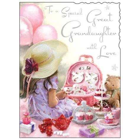 cards grandchildren jonny javelin great granddaughter birthday card