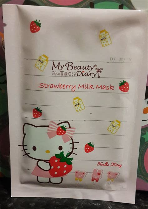 My Diary Sheet Mask Strawberry sheet masks haul