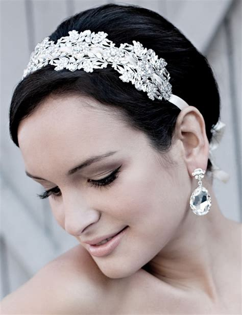 hairstyles with headband for short hair wedding headbands for short hair