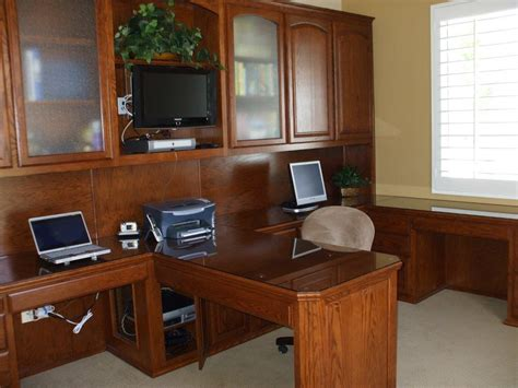 2 desk home office custom home office cabinets and built in desks