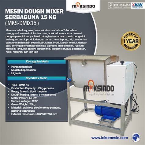 Mixer Roti 25 Kg jual mesin dough mixer 25 kg mks dg25 di tangerang toko mesin maksindo bsd tangerang toko