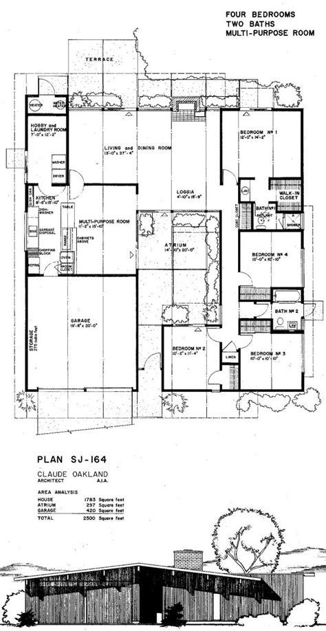 eichler floor plan eichler house plans