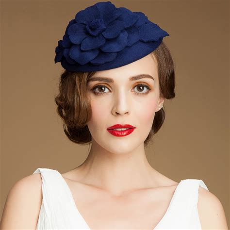 a083 womens 1950s gatsby style fascinator wool cocktail