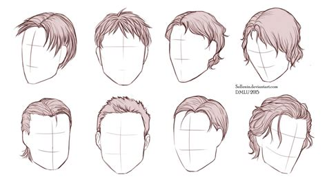 cool hairstyles drawing male hairstyles by sellenin on deviantart