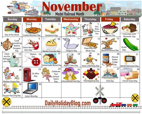 may daily holidays calendar daycare calendarholidays november daily holiday calendar new holidays and